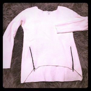 White Zippered Sweater